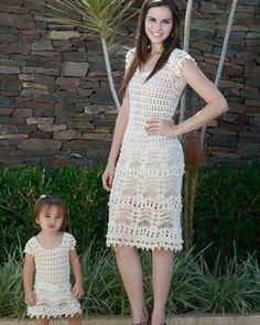 Crochet Blouse, Knit Dress, Crochet Bikini, Crochet Toddler, Crochet For Boys, Toddler Dress, Baby Dress, Mommy And Me Dresses, Mother Daughter Outfits