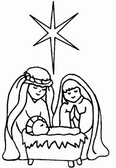 Nativity Coloring Pages North Star