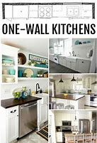 Ideas for One Wall Kitchen #OneWallKitchen