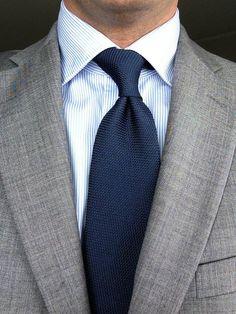 Sam Hober Tie: Navy Grenadine Fina Silk Tie 10 http://www.samhober.com/grenadine-fina-solid-ties/