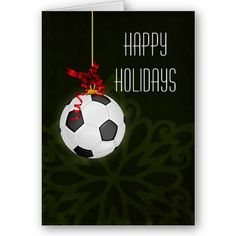 35 best sports holiday greeting cards images on pinterest soccer christmas holiday soccer football sports greetings cards red m4hsunfo