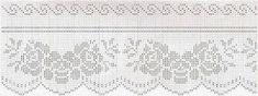 Kira scheme crochet: Four beautiful romantic borders Filet Crochet, Crochet Motif, Oblong Tablecloth, Tapestry, Romantic, Etsy Shop, Floral, Blog, Beautiful