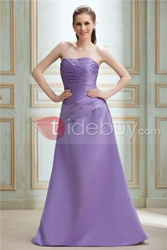 Charming A-Line Tiered Strapless Floor-Length Nadya's Bridesmaid Dress