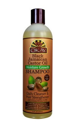 Black Jamaican Castor Oil Moisture Growth Shampoo (12 oz) by Okay | Natural Girls Rock®