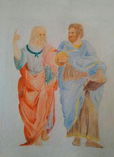 Platone e Aristotele -copia da Raffaello