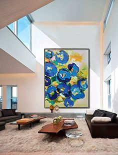 """Handmade Extra Large Contemporary Painting Huge Abstract Canvas Art High Q. Wall Decor Modern Abstract Painting on Canvas (Unframed & Unstretched, Canvas Rolled Only, 60""""x80""""(153x203cm)) -- Awesome products selected by Anna Churchill"""