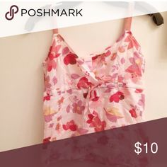 """Strappy floral top Material : light cotton. Bust: 32-33"""" Tops"""