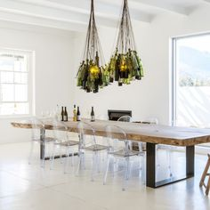 Chris Weylandts' light-filled contemporary farmhouse offers diners a calm yet edgy atmosphere that's perfect for leisurely lunching in the winelands. Weylandts, Rustic Industrial, Wine Cellar, Wine Recipes, Awards, Dining Table, Table Decorations, Contemporary, Kitchen