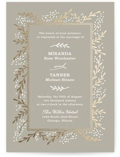 Beautiful Winter Wedding Invitation Idea