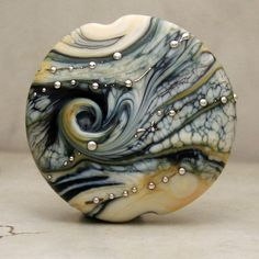 Handmade Glass Lampwork Bead  Etched by StoneDesignsbySheila, $22.00