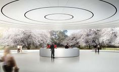 a look inside apple\'s cupertino spaceship campus by foster + partners