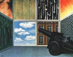 On the Threshold of Liberty, 1937 by Rene Magritte #magritte #paintings #art More Pins Like This At FOSTERGINGER @ Pinterest