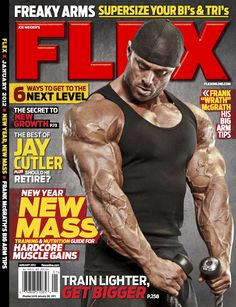 Flex Magazine cover, January 2012 featuring Frank McGrath. #fitness #bodybuilding #exercise