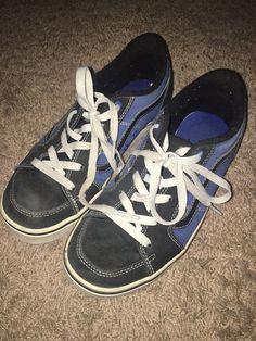 aa7ffc93cd Boys Vans Old Skool Blue Skater Shoes Size
