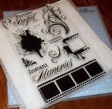 Close To My Heart Acrylic Words & Phrases Craft Stamps 35mm Film, Close To My Heart, Swirls, Scrapbook Pages, Stamp, Memories, Ink, Crafts, Ebay