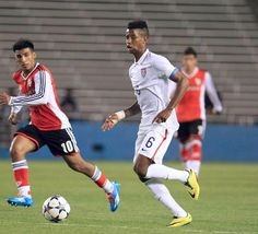 2015 Kellyn Acosta (US #6) is Captain of the US U-20 team as they enter CONCACAF qualifying for the U-20 World Cup