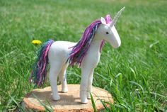 Felt Horse And Unicorn Pattern