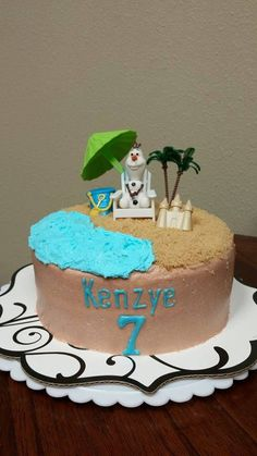 Frozen cake - Olaf in Summer - Frozen party ideas