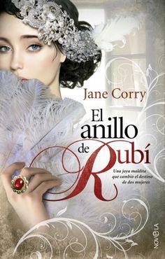 Diseño e ilustración de cubierta para la novela romántica  El anillo de rubí de Jane Corry que he realizado para La Esfera de los Libros