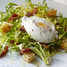We find egg yolk cascading over curly leaves of endive to be a truly ...