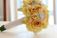 Yellow Crystal Bouquet