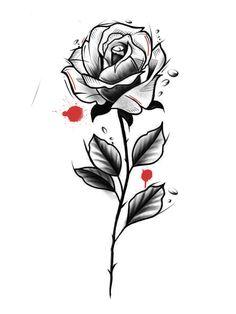 Flower Tattoo Drawings, Tattoo Sketches, Flower Tattoos, Art Drawings, Family Tattoo Designs, Family Tattoos, Hyperrealism Paintings, Tattoo Feminina, Blackwork