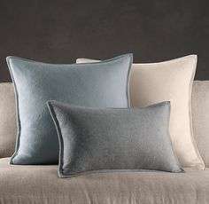 Cashmere Pillow Covers ... i like the edging