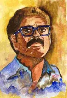 self portrait water colour -  Mohammed Alam