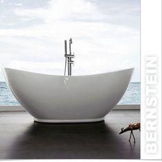 Vasca da bagno freestanding  VALENZIA  936, con rubinetteria 8028