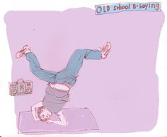 #ReganDunnick #breakdancing #breakdance #dance #dancing #illustration #humorous #cartoon #lindgrensmith