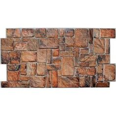 """Ekena Millwork Canyon Ridge Stacked Faux Stone 48"""" x 24"""" Urethane Wall Paneling & Reviews 