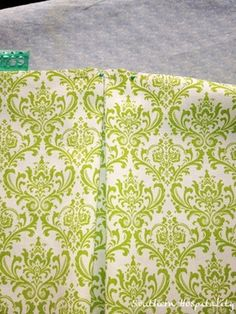 how to make a bed skirt with box pleat