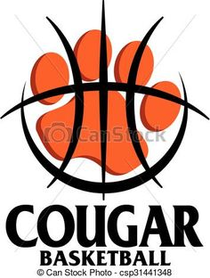 Vector - cougar basketball - stock illustration royalty free illustrations stock clip art icon stock clipart icons logo line art EPS picture pictures graphic graphics drawing drawings vector image artwork EPS vector art Bulldogs Basketball, Baylor Basketball, Basketball Signs, Basketball Posters, Basketball Quotes, Basketball Pictures, Basketball Uniforms, Basketball Court, Basketball Shirts For Moms