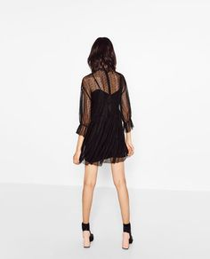 Image 6 of DRESS WITH LACE AND FRILL from Zara