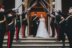 Military wedding at