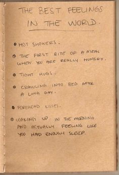 The best feelings in the world...