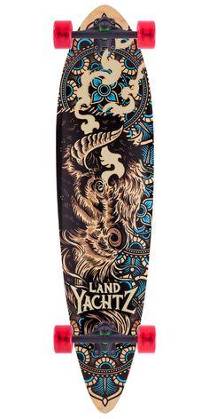 Landyachtz Fiberglass Totem Longboard Skateboard Complete - 2015
