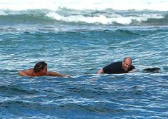 Jason catching the waves in Hawaii always more fun with friends