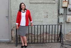 My Teacher Style// This look is a more modern twist on a classic staple- the pencil skirt! I would wear this for Meet The Teacher Night, the 1st Day of School, or even to an interview to nail that teaching job. Basically, this is a look for a more professional setting where you want to make a positive first impression. The Look: Red Sweater- Target Black Statement Necklace- Walmart White Button-Up Shirt- Target Black and White Pencil Skirt- Target Black Flats- H&M