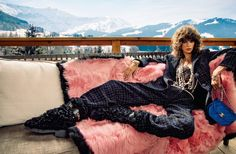 Stay cozy at Chanel's chic chalet and explore the new Fall campaign atop wonderous mountains. #Chanel #ChanelFW21 Chalet Chic, Dna Model, Chanel Model, Campaign Fashion, Dressed To The Nines, Embellished Jeans, Parisian Chic, Parisian Fashion, Fashion Labels