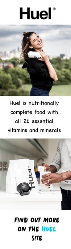Huel is made from a carefully chosen blend of oats, pea protein, flaxseed, brown rice protein, MCTs from coconut, sunflower lecithin, a bespoke vitamin and mineral blend, vanilla flavour and a sweetener. Try it to keep up your intake of nutrients when time is tight.