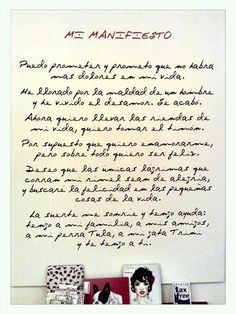 manifiesto dolores promesas Love, Quotes, Frases, Quotes Inspirational, Wise Words, T Shirts, Trends, Hipster Stuff, Amor