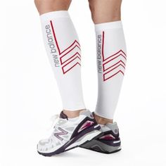 New Balance Compression Sport Sleeve White by New Balance. $24.99. Calves and shins hurt? Increase circulation and relieve leg pain with New Balance Compression Calf Sleeve Give sore shin and calf muscles the support they need! This lightweight calf sleeve provides compression, stimulating circulation and offering moderate support and stability to relieve lower leg pain. Nylon / spandex fabric feels comfortable against the skin and prevents bunching, while moistu...
