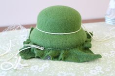 """How to Make a Wool Felt Hat for an 18"""" doll - Part 1"""