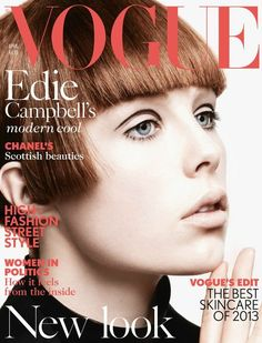 awesome Vogue UK | Capa Abril 2013 | Edie Campbell por David Sims