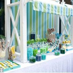 Candy buffet was the first thing I decided I wanted for my wedding.  I LOVE this one too.  So cute and PERFECT for my spring wedding