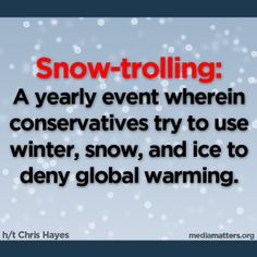 Cold winter weather? Bring on the snow-trolls.  Tired of this shit.......warming causes the bad winter weather you idiots