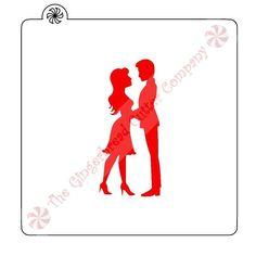 Romantic Couple Cookie Stencil