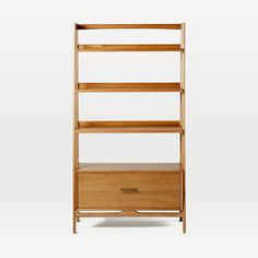 Mid-Century Bookshelf, Wide Tower, Acorn | west elm