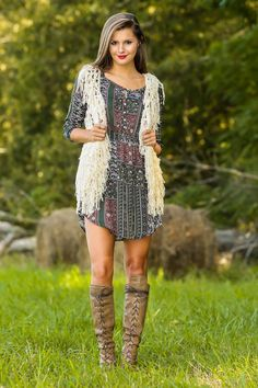 Hooked On A Feeling Vest-Beige - New Today | The Red Dress Boutique